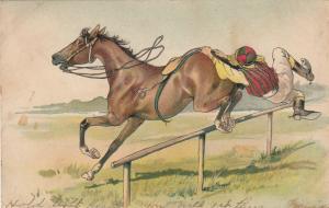 Jockey falling off horse during Race, PU-1907