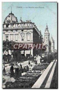 Postcard Old Paris Le Marche aux Fleurs