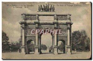 Old Postcard Paris L & # 39Arc De Triomphe Du Carrousel