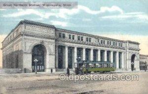 Great Northern Station, Minneapolis, MN, Minnesota, USA Train Railroad Unused