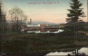 Ashland NH Continental Paper Mills c1910 Postcard