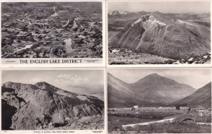 Scafell from Great Gable Lake District Map 4x Real Photo Old Postcard s