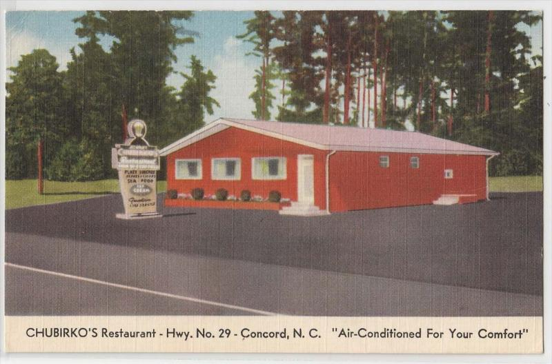 Chubirko S Restaurant Concord Nc Hippostcard