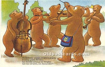 Bear Postcard 436/3 Unused