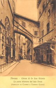 Italy Old Vintage Antique Post Card Firenze Chiesa di or San Michele Unused