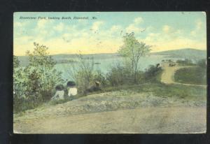 HANNIBAL MISSOURI RIVERVIEW PARK VINTAGE POSTCARD SAGRADA MO. 1910