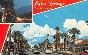 PALM SPRINGS, CA Palm Canyon Drive Street Scene California 1971 Vintage Postcard