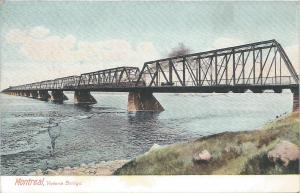 Montreal, Canada, Victoria Bridge, early postcard, Unused