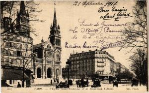 CPA Paris 11e Paris-L'Eglise Saint-Ambroise et le Boulevard Voltaire (313687)
