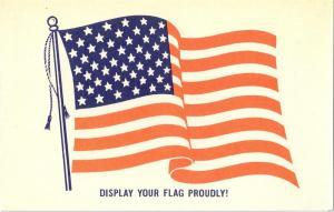 American Flag Vintage Patriotic Postcard Old Glory 50 stars