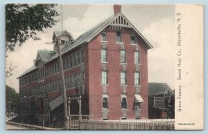 Postcard NY Gloversville 1905 View Daniel Hays Co Glover Factory Handcolored M11