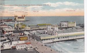 New Jersey Atlantic Beach Panorama Of Piers From Chalfonte Hotel
