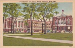 New York High School And Court House Hornell