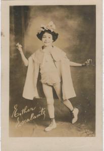 rppc - Esther Escalante - Peter Pan Costume - Studio pix- NY