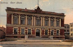roxbury court house L4457 antique postcard