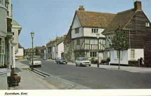 kent, FAVERSHAM, Street Scene, Cars (1970s)