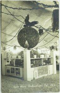 C.1914 RPPC Apple Show Sebastopol, Cal. Vintage Postcard P97