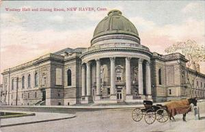 Connecticut New Haven Horse and Carriage At Woolsey Hall and Dining Room 1908