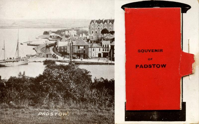 UK - England, Padstow. 12 Views in attached Fold-out. Circa 1910. Very Unique...