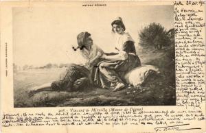 CPA Folklore - Vincent & Mireille - Antony Régnier (699334)