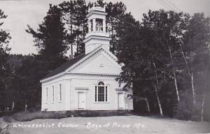 Maine Bryant Pond Universalist Church Real Photo RPPC
