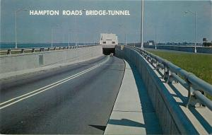 Hampton Virginia~Hampton Roads Bridge Tunnel~1960s Postcard
