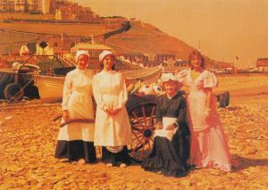 Victorian Saltburn Bakery French Maid Yorkshire Postcard