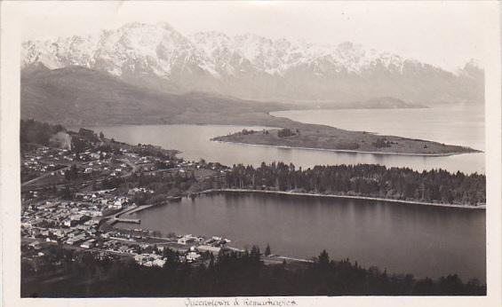 New Zealand Queenstown and Remarkables Real Photo