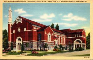 Utah Salt Lake City Granite Highland Stake Tabernale Lincoln Ward Chapel Curt...