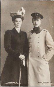 Woman and Man Soldier E. Bieber Verlag von Gustav Liersch RPPC Postcard F89