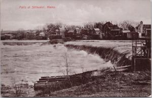 Falls at Stillwater ME c1908 Real Photo Postcard E31