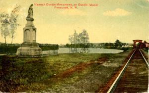 NH - Penacook. Dustin Island, Hannah Dustin Monument