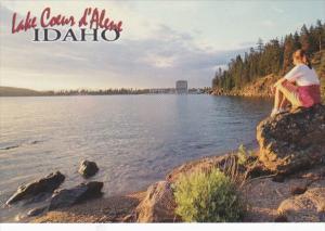 Idaho Coeur d' Alene Lake At Sunset