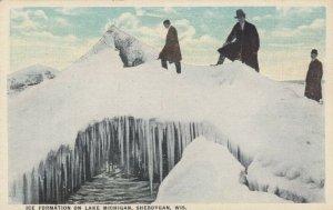 SHEBOYGAN, Wisconsin, 1900-10s; Ice Formation on Lake Michigan