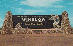 WINSLOW , Arizona, 50-60s ; Beautiful Welcome Sign