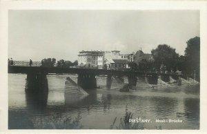 Slovakia Piešťany Piestany spa town Bad Pistyan Most bridge real photo postcard