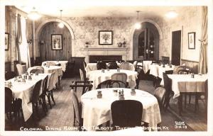 Bardstown Kentucky~Talbott Tavern~Colonial Dining Room~1940s Real Photo~RPPC