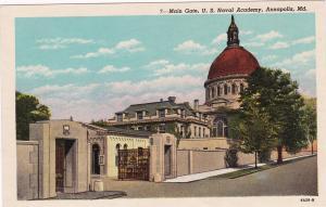 ANNAPOLIS, Maryland, 10s-20s; Main Gate, U.S. Naval Academy