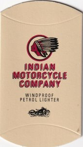 ADV: Indian MOTORCYCLE Company, Windproof Petrol Lighter Cardboard envelope
