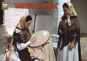 Local Craft Women Musical Instrument Making Ibiza Postcard