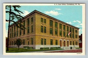 Clarksburg WV, US Post Office, Chrome West Virginia Postcard