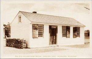 Old Village Post Office Dearborn MI Michigan Unused Artcraft RPPC Postcard G92