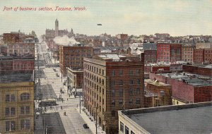 P1826 old pc birds eye view part of business section tacoma washington