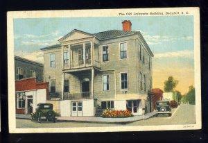 Beaufort, South Carolina/SC Postcard, Old Lafayette Building, Old Cars
