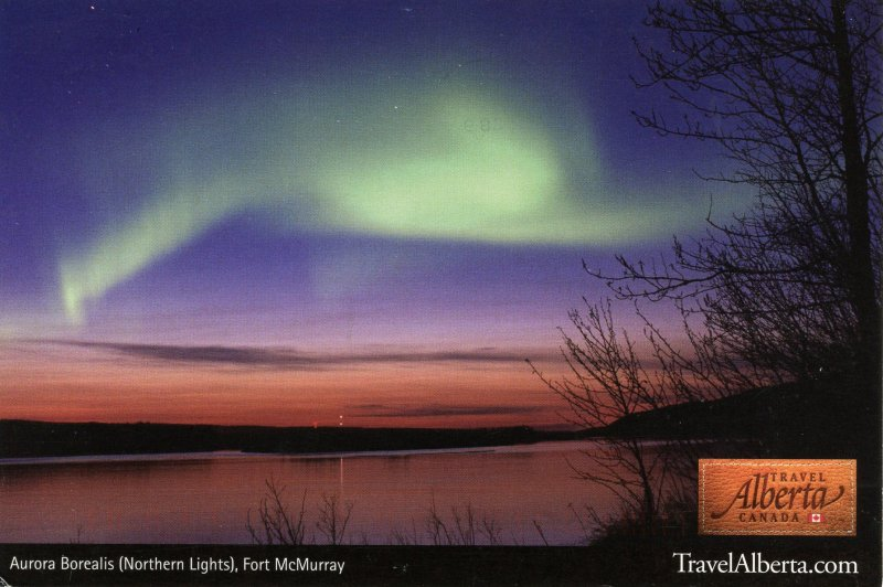 Canada - Alberta, Fort McMurray. Viewing the Northern Lights