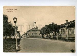 247106 FINLAND TURKU ABO Naantalin Market Vintage postcard