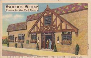 Pennsylvania Philadelphia Sansom House Famous Sea Food Dinners