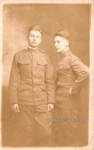 Military Real Photo Post Cards Old Vintage Antique Soldier, Army Men Writing ...