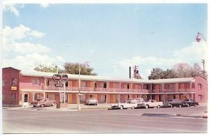 Billings MT The Town House Best Western  Signage Old Cars Postcard