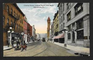 Clinton Street Johnstown PA used c1915